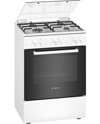 Bosch Stove 4 Burner 600 Full Gas White