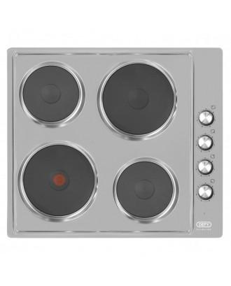 Defy Hob 600 4 Plate Electric Silver