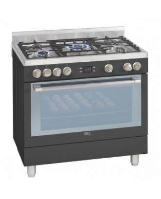Defy Stove 900 5 Gas Burner Electric Oven Premium Black