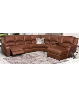 Lincoln 6 Piece Corner Daybed with Recliner Brown